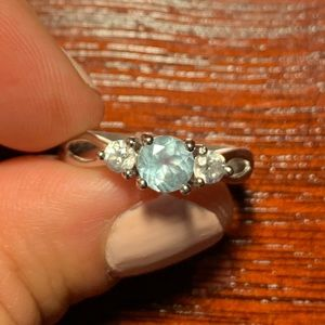 Sterling Silver 3-Stone Ring